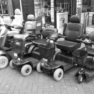 A row of geriatric chariots
